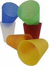 Rikama 30 Plastik Trinkbecher 0,4 l - Mixed Color