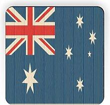 Rikki Knight Australien Flagge auf Distressed Holz