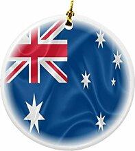 Rikki Knight Australien Flagge Design Rund
