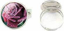 Ring aus Glas, rund, handgefertigt, mit