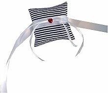 Ringkissen für Hunde - Heart and Stripes