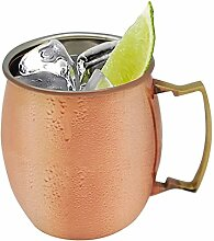 Rink Drink Moscow Mule Kupfer Russischer Cocktail-Becher, 590 ml