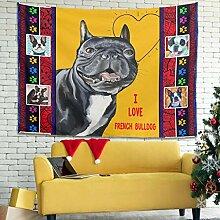 Rinvyintte Ich Liebe FRANZÖSISCH Bulldog Hippie