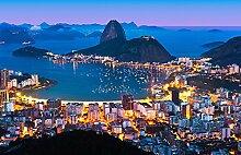 Rio de Janeiro - Vlies Foto-Tapete Wallpaper 366x254cm - 8-teilig Beigelegt sind eine Packung Kleber und eine Klebeanleitung. Made in Germany.