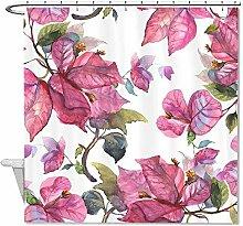 "rioengnakg Watercolor Blätter Pflanzen Polyester Duschvorhang Liner Mehltau wasserdicht bis, Polyester, #1, 72""""x72""""(180x180cm)"