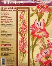 Riolis 938 Kreuzstich-Set Gladiole, Baumwolle,