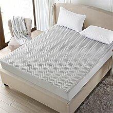Ripple Matratze Protector Cover Anti-Rutsch-weichen Matratzenschutz Verschiedene Größen ( Farbe : Grau , größe : 120*200cm )