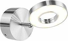 Risoay 5W Aluminium Einstellbar Silber Weiß