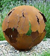 Riss Kugel 50cm Ø Edelrost Rost Gartendeko Garten