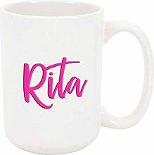 Rita 11oz Kaffee oder Teebecher Weiß Keramik