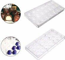 Ritte 3D Schokoladenform, 2 Stück Pralinenform
