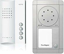 Ritto Portier Audio Set Freisprechstelle 1 WE, inklusive 50 plus Punkte, silber / weiß, RGE1891320