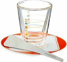 Ritzenhoff 2600007 Espressoglas mit Untertasse