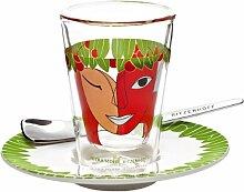 Ritzenhoff 2600014 Espressoglas mit Untertasse