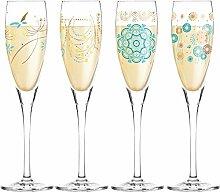 Ritzenhoff 4er Set Proseccoglas Pearls | Rachel Hoshino, Dorothee Kupitz, Michael Shalev, Dominique Tage | 3250023 - 3250026 |Kollektion Frühjahr 2017