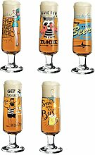 Ritzenhoff Beer Design Bierglas 5er Set mit je 5
