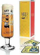 Ritzenhoff Beer Design Bierglas mit Bierdeckeln,