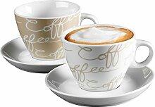 Ritzenhoff & Breker Cappuccino-Set Cornello Creme,