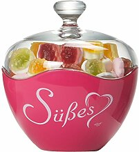 Ritzenhoff & Breker Glasdose Süßes, 13x15 cm, Fuchsia