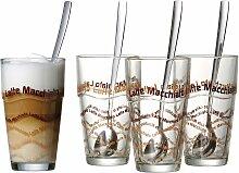 Ritzenhoff & Breker Latte-Macchiato-Glas, (Set, 4