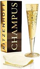 Ritzenhoff Champagnerglas mit Serviette, 200 ml,