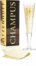 Ritzenhoff CHAMPUS Champagnerglas, Wunderkerze mit