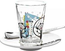 Ritzenhoff Designer Espressoglas mit Untertasse und Löffel by Julien Chung 2012 (24,95 EUR / Stück)