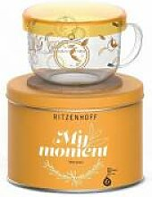 RITZENHOFF My Moment Design Teeglas mit Glasdeckel - Kurz Kurz Design orange