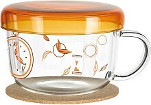 Ritzenhoff MY MOMENT Teeglas mit Glasdeckel ORANGE