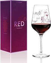 Ritzenhoff RED Design Rotweinglas SCHRIFT by
