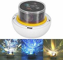 Riuty LED Sternenhimmel Lampe,360 Rotierenden USB