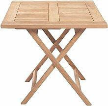 Riva Teak Bistrotisch Gartentisch braun Echtholz