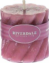 Riverdale 009335-17 Kerze Swirl antik rosa 7,5 x
