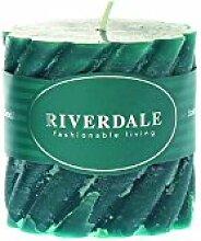 Riverdale 009347-17 Kerze Swirl smaragd