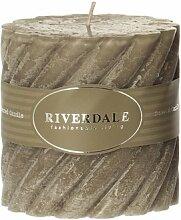 Riverdale 009371-15 Kerze Swirl olive
