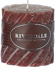 Riverdale 009372-15 Kerze Swirl mahagoni