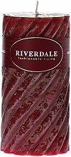 Riverdale 009521-16 Kerze Swirl bordeaux 7,5 x 15