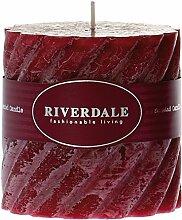 Riverdale 009523-16 Kerze Swirl bordeaux 10 x 10