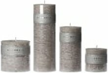 Riverdale 009757-12 Kerze Pillar hellgrau 7,5 x 23