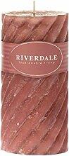 Riverdale Duftkerze Swirl antikrosa 7,5x15 cm -