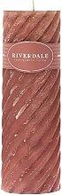 Riverdale Duftkerze Swirl antikrosa 7,5x23 cm -