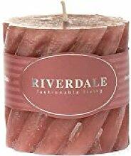 Riverdale Duftkerze Swirl antikrosa 7,5x7,5 cm -