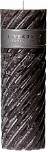 Riverdale Duftkerze Swirl dark grey 7,5x23 cm