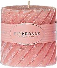 Riverdale Duftkerze Swirl peach 10x10 cm