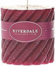 Riverdale Duftkerze Swirl weinrot 10x10 cm - Duft