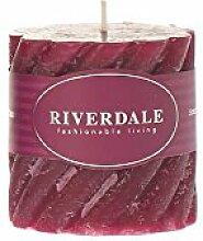 Riverdale Duftkerze Swirl weinrot 7,5x7,5 cm -