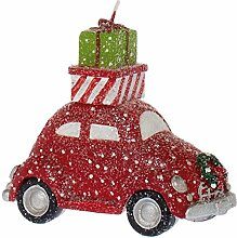 Riverdale Kerze Auto Beetle Glitter rot 11 cm -