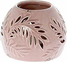 Riverdale Siesta Windlicht aus Keramik rosa 15 cm