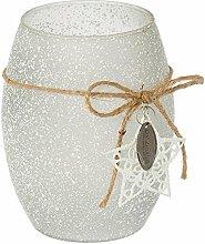 Riverdale Windlicht aus Glas mit Dekostern Star