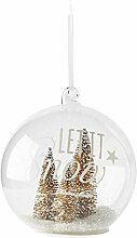 Riviera Maison - Let It Snow Gold Forest Ornament